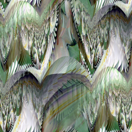 FWL - Seamless by Tina Dare - Digital Art Abstract ( abstract, seamless, greens, patterns, designs, distorted, curves, shapes )