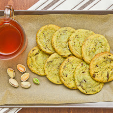 White Chocolate Pistachio Dark Chocolate Chunk Cookies