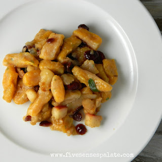 Butternut Squash Gnocchi with Apple-Cranberry Sauce