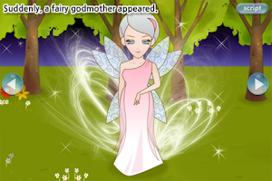 Screenshot of LUMIKIDS app book: Cinderella