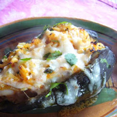 Poblanos Stuffed With Cheddar and Chicken
