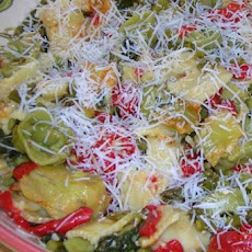Green & White Tortellini With Spring Veggies