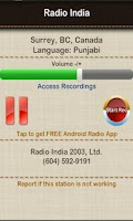 Screenshot of Radio India Surrey BC
