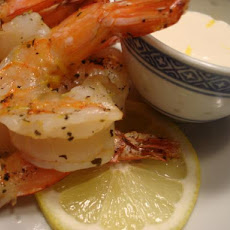 Barbecued Shrimp With Garlic Mayonnaise