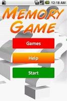 Screenshot of Training Memory - Game