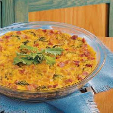 Broccoli Ham Quiche (microwave)