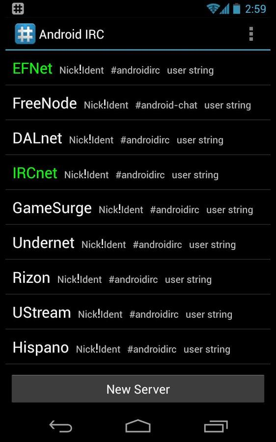 IRC for Android ™ Screenshot 0