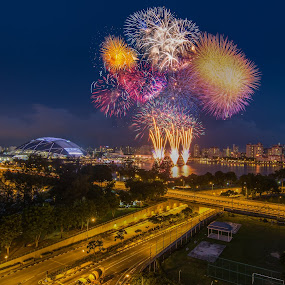 by Jun Hao - Abstract Fire & Fireworks ( firework,  )