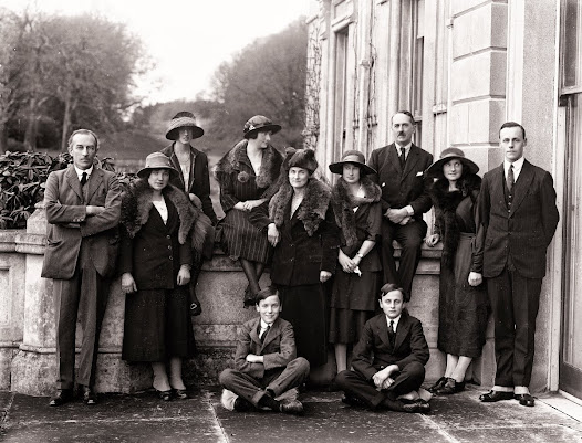 "A ""coming of age"" (21st birthday) celebration at Curraghmore, Portlaw, Co. Waterford, January 1922. (PWP 2973)"