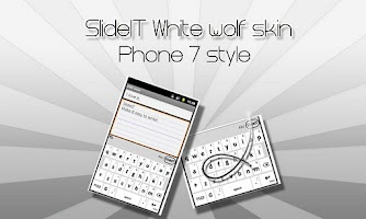 Screenshot of SlideIT White Wolf Skin