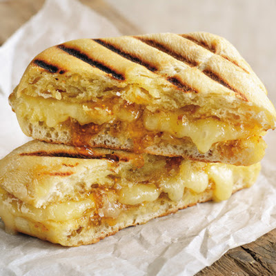 Grilled Artisan Cheddar & Fig Jam Sandwich