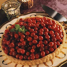Chocolate Tart with Candied Cranberries