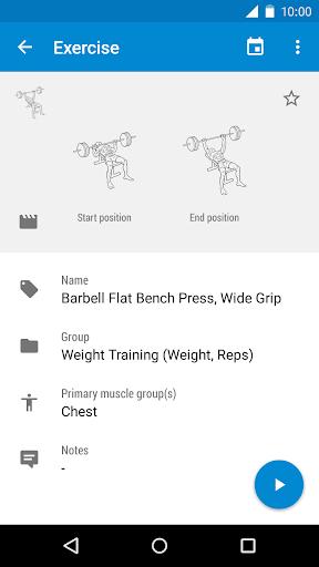 GymRun Fitness Workout Logbook - screenshot