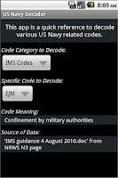 Screenshot of Decoder for US Navy