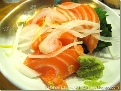 tokkuri tei salmon sashimi
