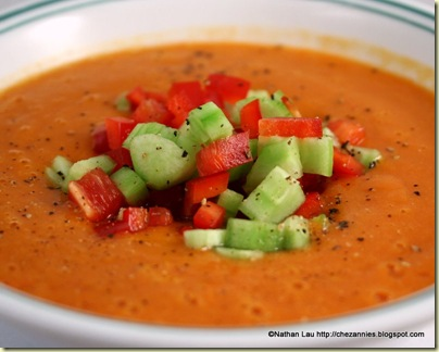 heirloom tomato gazpacho garnished 2
