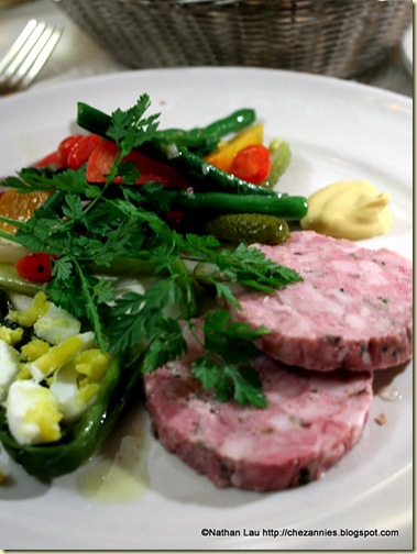 Country Pork Terrine with Green Beans and Leeks at Chez Panisse