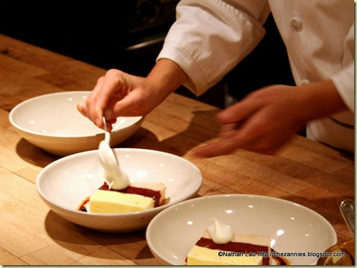 Preparing Ice Cream Bombe @ Chez Panisse