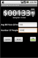 Screenshot of Meeting Cost Calculator