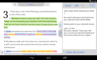 Screenshot of NLT Bible