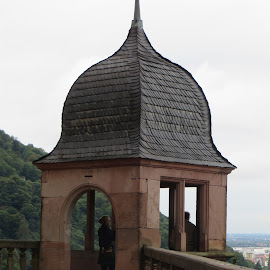 Tower at Schloss Heidelberg, Germany by Lori Rider - Buildings & Architecture Architectural Detail ( curve, tower, dome, germany, balcony,  )