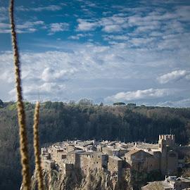 Old Calcata by Ivana Bubanj - Landscapes Travel ( clouds, old, borgo, lazio, beautiful, old town, cityscape, natura, anzient, calcata, winter, nature, italy, rocks,  )