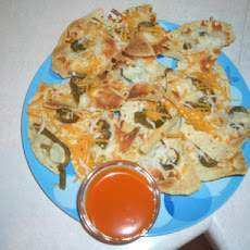 Hot and Cool Three-Cheese Nachos
