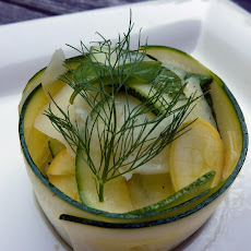 Summer Squash Carpaccio with Fennel, Basil, Mint and Shaved Pecorino