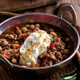 Andrew Carmellini's Lamb Chili with Chickpeas and Raita