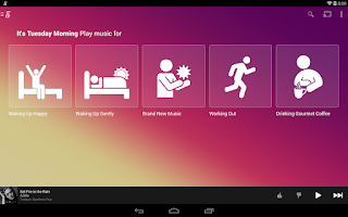 Screenshot of Songza