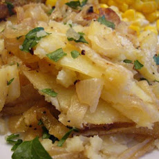 Golden Potato and Onion Gratin