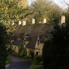 Arlington Row by Diane Dunn - City,  Street & Park  Historic Districts ( cotswolds )