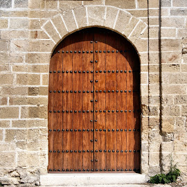 Brown church doors Sevilla by Anita Berghoef - Buildings & Architecture Architectural Detail ( doors, urban, old, church, door, brown, nails, architecture, sevilla, spain )