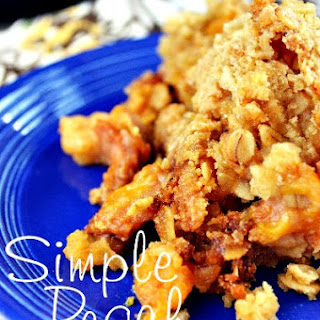 Simple Homemade Peach Cobbler