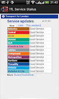 Screenshot of London Train Route Planner