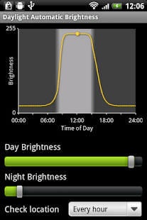 Daylight Automatic Brightness - screenshot