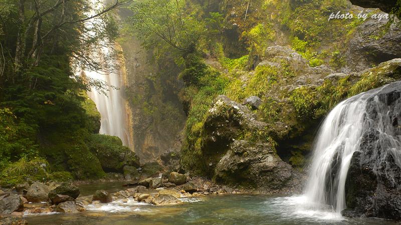 本沢の滝とクロイ沢の滝2