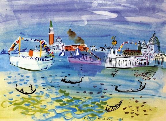 Raoul Dufy - Musée d'Art moderne  dans EXPOSITIONS Venise%2CLaDogana_1938_NC