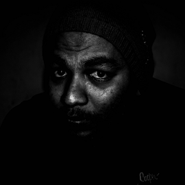 Black Man by Habeeb Rahman - People Portraits of Men ( black man, dark, kerala, india, men, black, portrait )