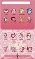 Screenshot of Bunny King GO Launcher theme
