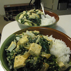 Saag Tofu (Indian Tofu With Spinach)