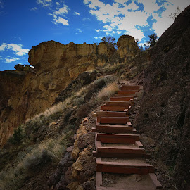Misery Ridge Trail - Smith Rock by Clint Melsha - Landscapes Mountains & Hills