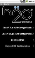 Screenshot of H2O Config
