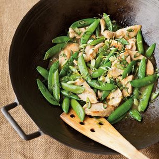 Stir-Fried Chicken with Sugar Snap Peas and Lemon