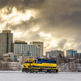 Alaska Railroad by Leslie Nu - Transportation Trains ( ak, anchorage, railroad, alaska, train )