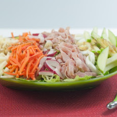 Healthy Chef's Salad with Caraway Dressing