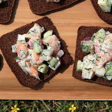 Open-Faced Shrimp Salad Sandwich Recipe