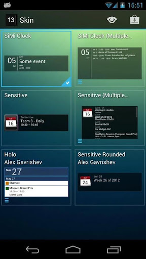Simple Calendar Widget Pro - screenshot