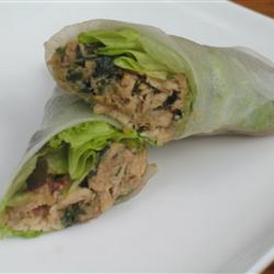 Lemon Grass and Chicken Summer Rolls
