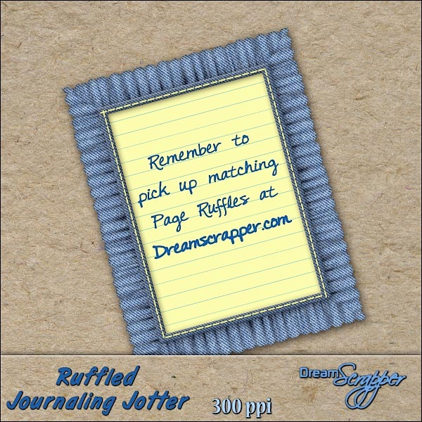 Ruffled Journaling Jotter